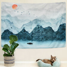 Mountain and Sun Tapestry Landscape Wall Hanging Tapestry Art Room Decoration