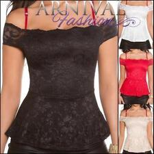 Polyester Off-Shoulder Floral Regular Size Tops for Women