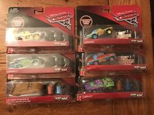 Disney Pixar Cars 3 DEMO DERBY Set of all 6 Cars Crazy 8 Rubber Tires Exclusive