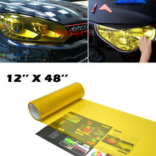 "12''x48"" Gold Yellow Vinyl Sticker Film Wrap Sheet For Headlight Foglight Lamps"