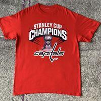 NHL Washington Capitals 2018 Stanley Cup Champions Hockey Shirt Mens Large