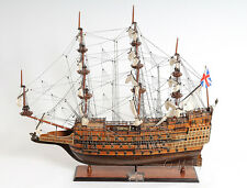 "HMS SOVEREIGN of the Seas 1637 Handmade Wooden Tall Ship Model 29"" T076"