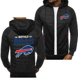 New Buffalo Bills Hoodie Classic Autumn Hooded Sweatshirt Jacket Coat Top Tops