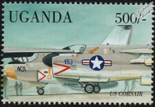 US Navy LTV A-7 CORSAIR II Carrier-Based Attack Aircraft Stamp (1998 Uganda)
