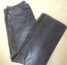 Levis Strauss 501 W 36 X L 30 Azul Oscuro 100% Algodón Cierre De Botones