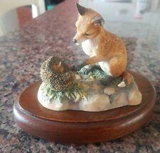 Border Fine Arts Fox Cub with Hedge Hog ~ Ayers Scotland 1983
