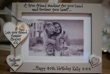 Personalised Photo Frame! Friends 30th 40th 50th 60th Birthday Gift!