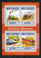 Mozambique 2015 MNH African Trains 4v M/S Railways Railroads Garratt 6012