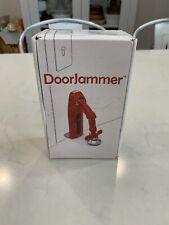 Doorjammer red portable door lock safe home security device new in box