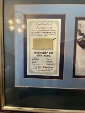 """Airplane artifact of the """"Glacier Girl"""" Certificate of Authenticity"""