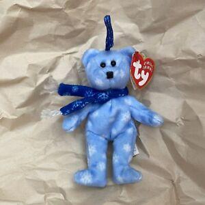 TY Jingle Beanies Happy Holidays 1999 Holiday Teddy Bear Beanie Babies Ornament