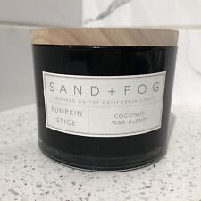 SAND + FOG Pumpkin Spice Scented Candle with Wooden Lid