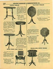 1932 PAPER AD Revolving Book Rack Duncan Fhyfe Design Tilt Top Tables