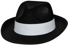 MAFIA GANGSTER Cappello Nero NUOVO - Carnevale Cappello berretto copricapo
