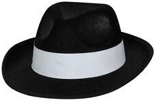 Mafia Gangster Hut schwarz NEU - Karneval Fasching Hut Mütze Kopfbedeckung