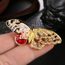 Enamel Butterfly Crystal Rhinestone Brooch Pin Gift Badge Buckle Collar JeweRCCA