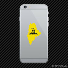 Maine State Shaped Gadsden Flag Cell Phone Sticker Mobile ME