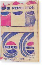 Pepsi Cola XXL 75 x 100 cm 12 mm Holzdruck Pop Art/Malerei/StreetArt/Vintage