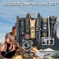 13in1 Überlebensausrüstung Überlebenskit Notfallausrüstung Camping Outdoor Jagd