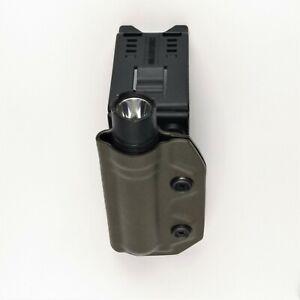 Streamlight 2L-X Flashlight Holster, Fits 1-1/2, 2-1/4 Duty Belt, Olive Green OD