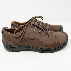 KEEN Sterling City Brown Leather Oxford Comfort Walking Sneakers Shoes 6 womens