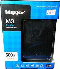 Maxtor STSHX-M500TCBM M3 500GB External Hard Disk Drive USB3.0 Brand New
