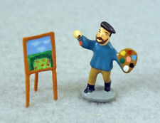 J CARLTON BY GAULT SET OF TWO FRENCH MINIATURE ARTIST 'S FIGURINE & EASEL