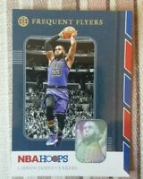 2019 Panini hoops LeBron James frequent flyers card Los Angeles Lakers