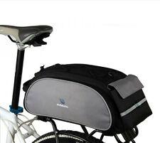 Cycling Bicycle Bike Pannier Rear Seat Bag Rack Trunk Shoulder Handbag 13L Black