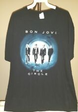 Bon Jovi Classic Black Bon Jovi The Circle Tour 2010-2011 Large T-Shirt