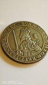 A RARE KING Charles 1 St SILVER PLATED 1643 CROWN COPY COIN