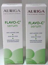 AURIGA FLAVO-C SERUM  Vitamin C - Anti Ageing/Wrinkles Face Skin Care Duo 15ml