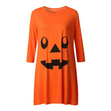 Pregnant Womens Nursing Nightgown Pregnancy Halloween Devil Print Dress Clothes