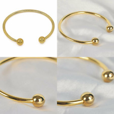"""Jfume 18k Gold Plated Invisible Magnet Cuff Bangle Women and Men 7.5"""""""