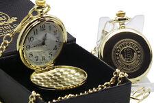 Bitcoin 24k Gold Clad Montre de Poche Luxe Cadeau pour Digital Monnaie Portefeuille