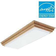 Lithonia Lighting Dentil 4-Light Fluorescent Ceiling Fixture Elegant Oak Finish