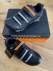 Muddyfox Kids / Junior MTB100 Cycle Shoes Cycling Shoes, Black /Grey NEW Size 3
