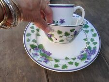 3 piece place setting Waverly GARDEN ROOM SWEET VIOLETS,dinner,soup bowl,mug