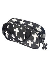 INVERTED CROSS PENCIL CASE MAKE UP BAG TOILETRY BAG GOTHIC ZIP UP WATERPROOF BAG