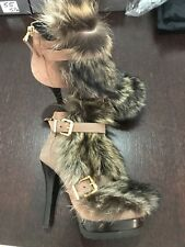 Fendi Brown Fox Fur Boots Size 35/5