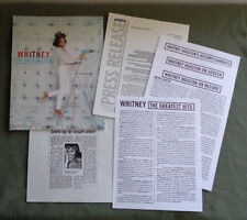 Whitney Houston The Greatest Hits Promotional Packet Arista Press Release 2000
