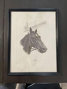 Vintage 1974 Fenelle Cannonade Kentucky Derby Winner Framed Print 12x16