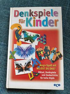 Denkspiele für Kinder, Hochbegabung, Buch, sehr gut-neuwertig!