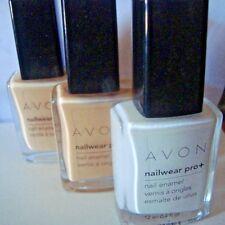 Avon Nailwear Pro Nail Polish/ Enamel in Sheer French Pink 2 & French Tip White