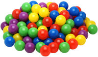 500 Plastic Balls for Bounce House or Ball Pit, Crush Resistant, Draw Mesh Bag