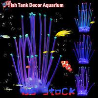 Aquarium Sea Anemone Decor Silicone Coral Fish Tank Beauty Landscape Harmless US