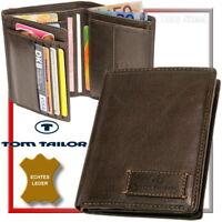 TOM TAILOR Herren-Geldbörse Brieftasche Geldbeutel Portemonnaie Geldtasche Braun