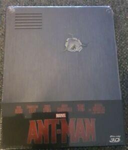 Ant-Man Blu-ray 3D + Blu-ray Steelbook (2 Disc Set) Brand New Sealed