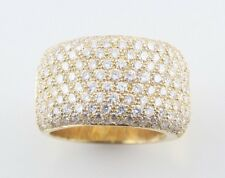 18KT YELLOW GOLD PAVE DOME 3.85CT DIAMOND RING *AMAZING VALUE AND QUALITY*