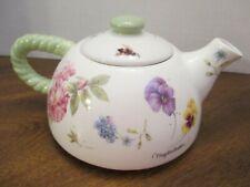 "Hallmark Artist Marjolein Bastin "" Tea Pot "" Floral pansy, No Cracks"